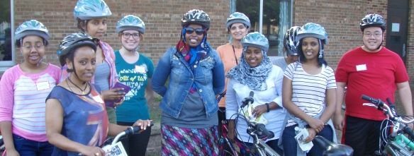 June Learn-to-Ride class with new helmets